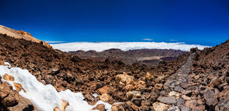 Panoramic landscape from Teide Royalty Free Stock Photo