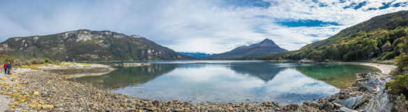 Panoramic landscape of Tierra del Fuego National Park, Patagonia Stock Image