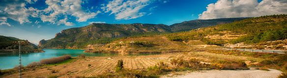 Panoramic landscape view in Albacete. Spain Stock Photos