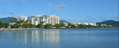 Panoramic landscape view of Cairns waterfront skyline Royalty Free Stock Photos