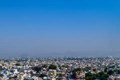 Panoramic landscape view famous of Mumbai City, Maharashtra, India royalty free stock photo