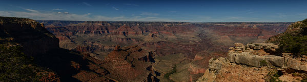 Panoramic landscape view of the Grand Canyon in AZ Royalty Free Stock Images