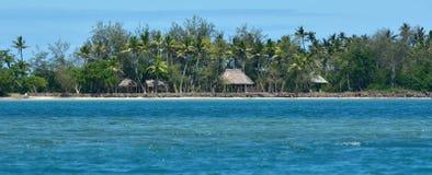Panoramic landscape view of Nanuya Levu island in Fiji Royalty Free Stock Photo