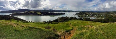 Panoramic landscape view of Taipa-Mangonui Royalty Free Stock Photography