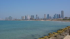 Panoramic landscape view of Tel Aviv Israel stock footage