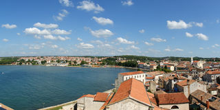 Panoramic Landscape With The Sky, The Sea And Roof Royalty Free Stock Images
