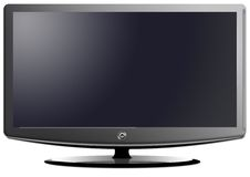 Panoramic lcd television Royalty Free Stock Images
