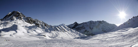 Panoramic in Les Arcs. France Stock Photography