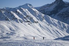 Panoramic in Les Arcs. France Stock Photo