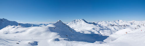 Panoramic in Les Arcs. France Royalty Free Stock Photos