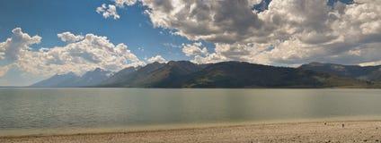 Panoramic Lewis Lake. Wyoming, USA Stock Photography