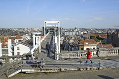 Panoramic lift Ascenseur des Marolles Royalty Free Stock Photos