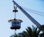 Panoramic lift Bigo by Renzo Piano in Genoa, Italy stock image