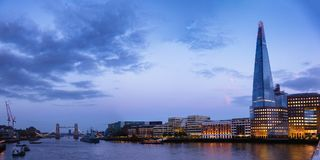 London cityscape panorama with River Thames Shard Stock Photography