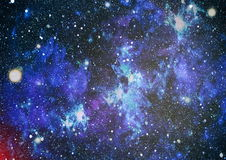 Panoramic looking into deep space. Dark night sky full of stars. The nebula in outer space. Stock Photography
