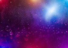 Panoramic looking into deep space. Dark night sky full of stars. The nebula in outer space. Royalty Free Stock Images