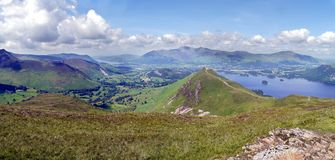 Panoramic looking to Keswick, Lake District Stock Photo
