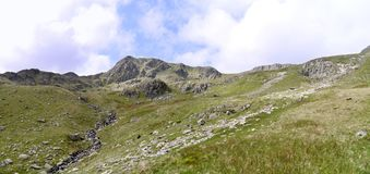 Panoramic looking to Nethermost Pike and it`s east ridge Stock Images