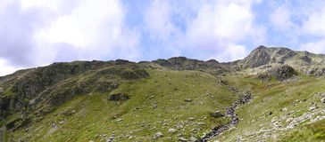 Panoramic looking to Nethermost Pike and it`s east ridge Stock Photography