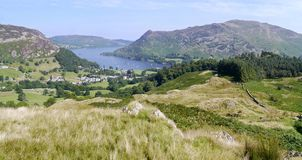 Panoramic looking to Ullswater, Lake District Royalty Free Stock Image