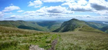 Panoramic looking towards Kentmere, Lake District Royalty Free Stock Image