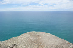Panoramic Lookout over ocean at edge of platform Royalty Free Stock Photo