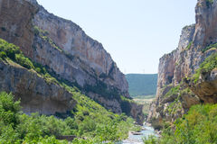 Panoramic of Lubier canyon Stock Photography
