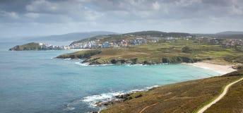 Panoramic of Malpica. La Coruña, Galicia, Spain Stock Image