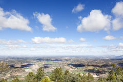 Panoramic of Matarranya Stock Images