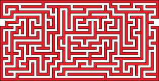 Panoramic Maze. Vector Illustration of Panoramic Maze Royalty Free Stock Images
