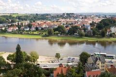 Panoramic Meissen cityscape Stock Image