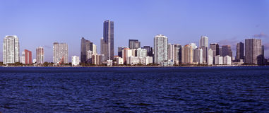 Panoramic Miami Royalty Free Stock Photography