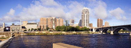 Panoramic Minneapolis Stock Photo
