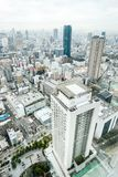 Panoramic modern city skyline aerial view in Osaka, Japan. Business concept for real estate and corporate construction - panoramic modern city skyline bird eye royalty free stock photography