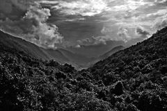 Panoramic monochrome royalty free stock photography