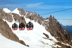 The Panoramic Mont-Blanc cable car at Aiguille du Midi Stock Image
