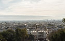 Panoramic Montmartre vista in late October Royalty Free Stock Photos