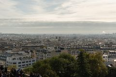 Panoramic Montmartre vista in late October Stock Image