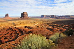 Panoramic Monument Valley: Buttes Royalty Free Stock Photography