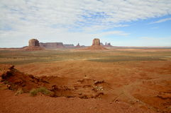 Panoramic Monument Valley Plains Royalty Free Stock Images