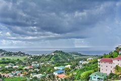 Panoramic view on Saint Vincent island. Saint Vincent and the Grenadines.