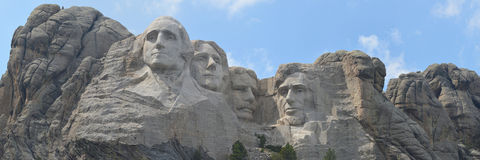 Panoramic Mount Rushmore stock photo