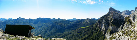 Panoramic Mountain. A panoramic view of asturias mountain in spain Stock Images