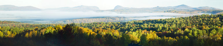 Panoramic Mountain Fall Foliage (XXXL) Royalty Free Stock Photo