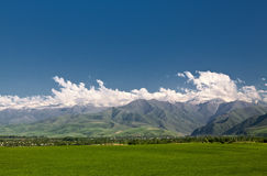 Panoramic mountain landscape Royalty Free Stock Image