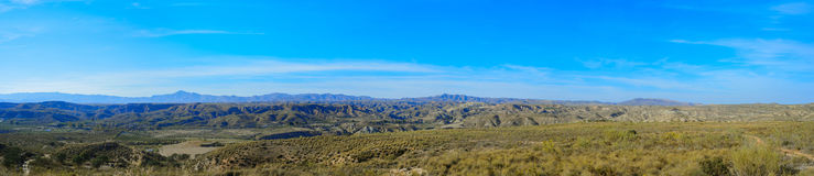 Panoramic mountain landscape Stock Photo
