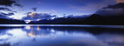 Panoramic Mountain Reflections Stock Images