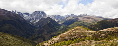 Panoramic Mountain Scene Royalty Free Stock Photo