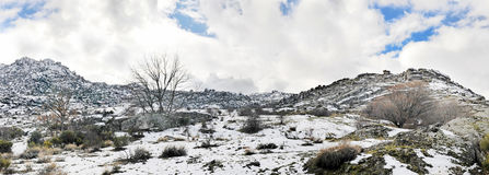 Panoramic mountain snow Royalty Free Stock Photography
