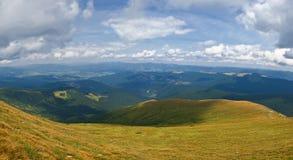 Panoramic mountain view Stock Image